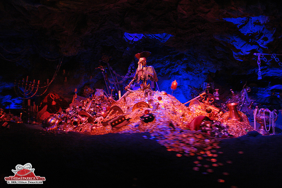 Skeleton in Pirates of the Caribbean