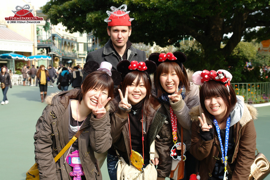 Theme Park Guy in Japan. Man, that looks weird!