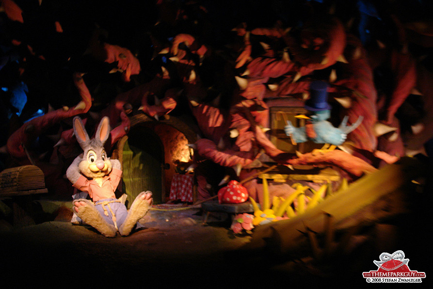Splash Mountain dark ride sections