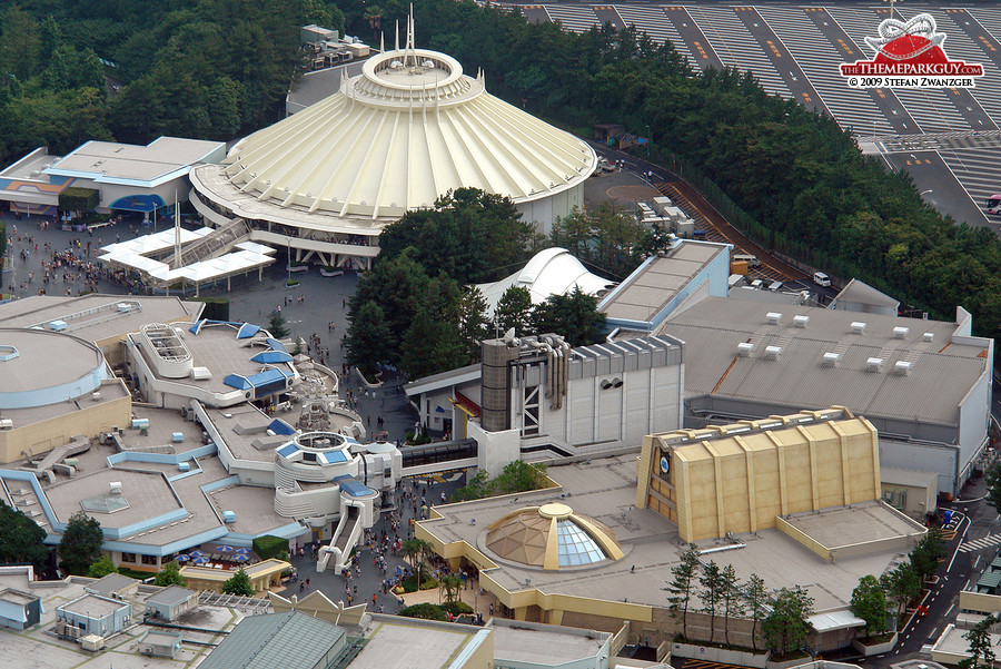 Tomorrowland aerial view