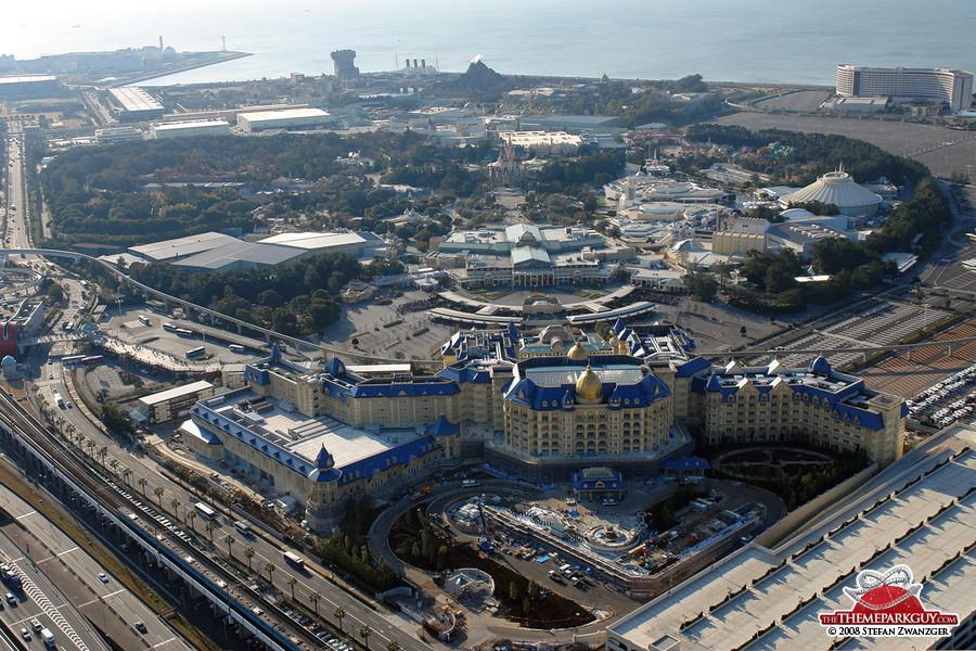 Tokyo Disneyland aerial