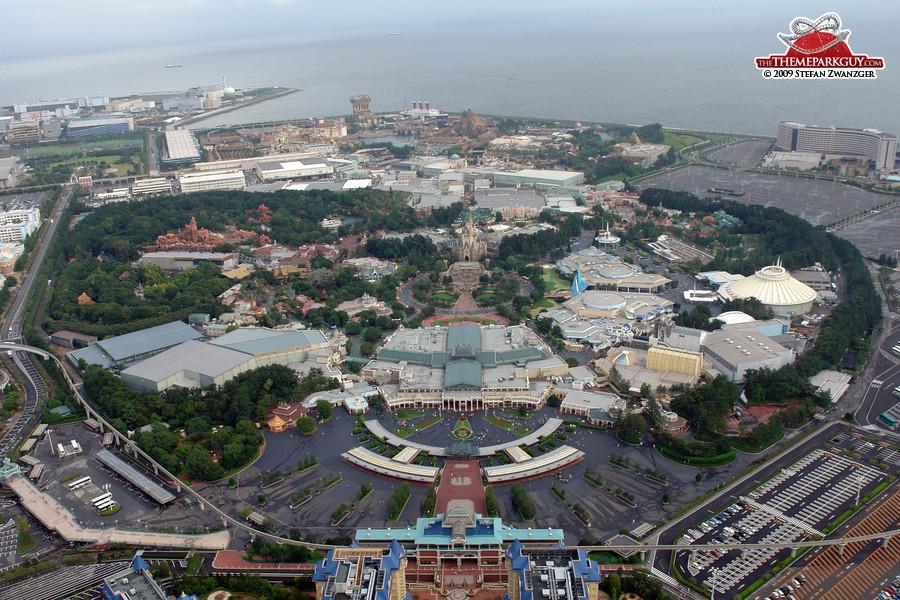 Tokyo Disneyland aerial view