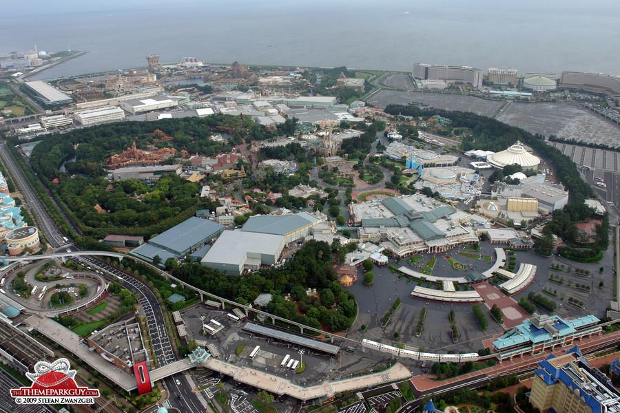 Tokyo Disneyland from above