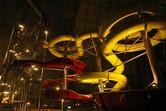 Slide tower at night
