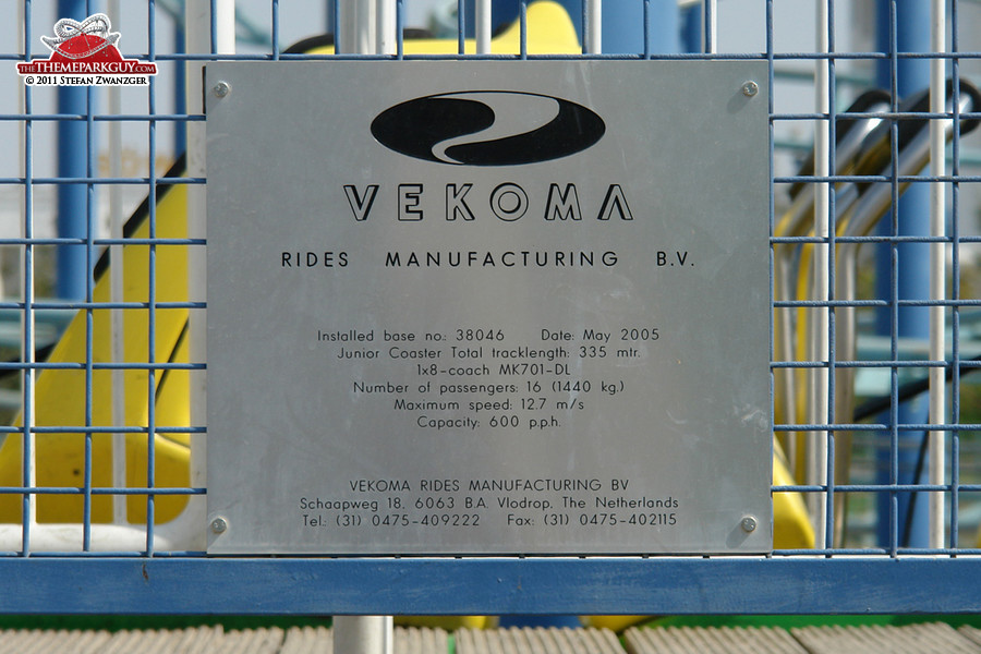 Vekoma, a world-class ride manufacturer based in The Netherlands