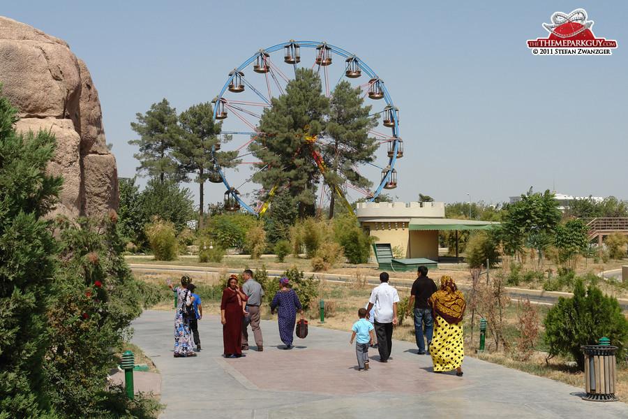 Turkmen guests in traditional attire