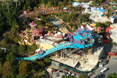 Dudley Do-Right flume ride from above