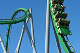 Hulk coaster close-up
