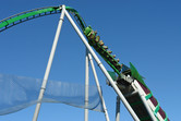 Hulk coaster's initial inversion makes you feel weightless for a second