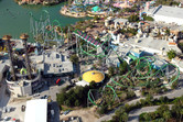 'The Incredible Hulk' roller coaster from above