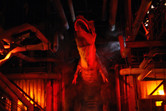 Massive T-Rex surprise at the ride's climax