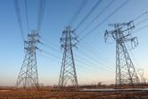 Pylons in Beijing's suburbs