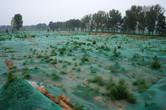 Soil being prepared
