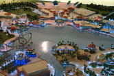 Model of the Universal Studios Dubailand lake