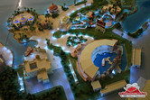 Model of the Waterworld stunt show stadium