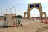 The Universal Studios Dubailand site office gate is ready