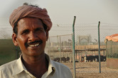 This man lives right behind the Universal Studios Dubai gate