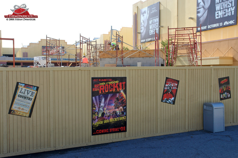 Hollywood Rip Ride Rockit construction site
