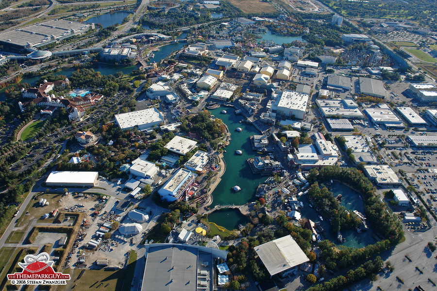 Universal Orlando Resort aerial view