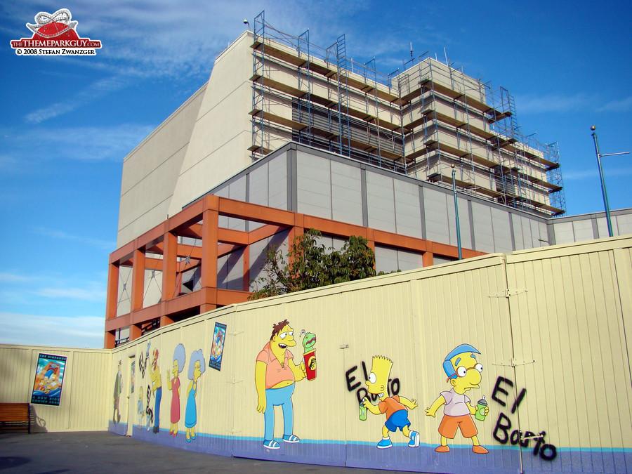 Simpsons Ride under construction