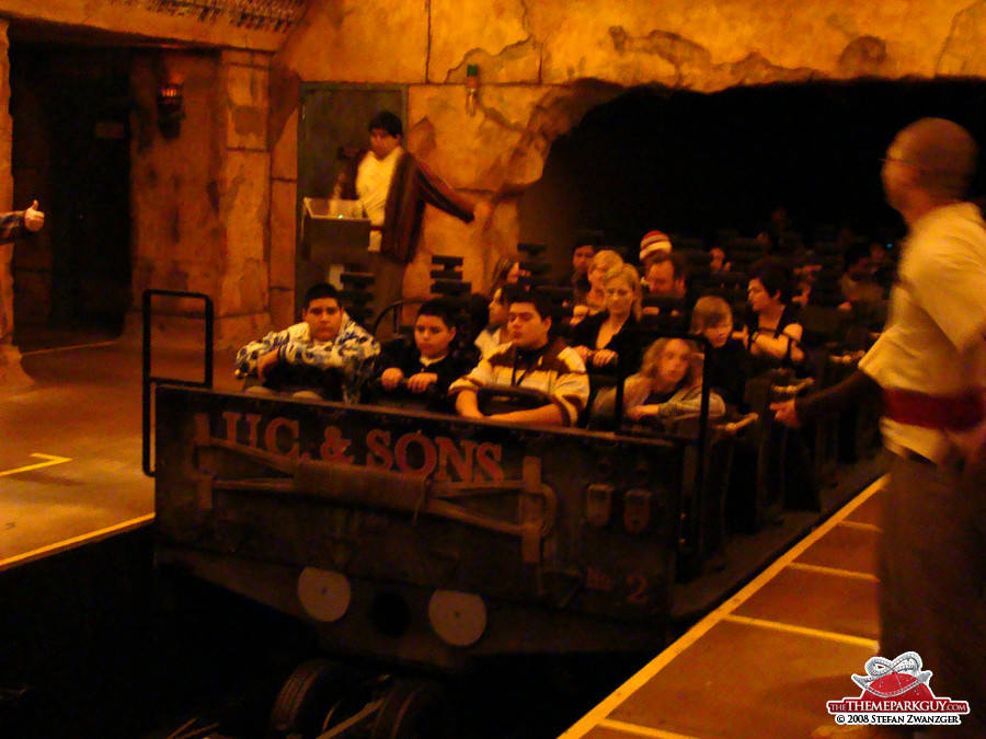 Revenge of the Mummy coaster car