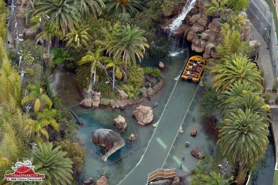 Jurassic Park from above