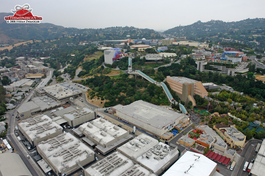 Universal Studios Hollywood from above