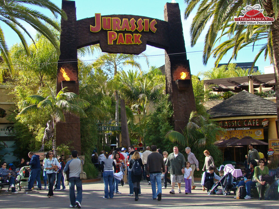 Entrance to the Jurassic Park section