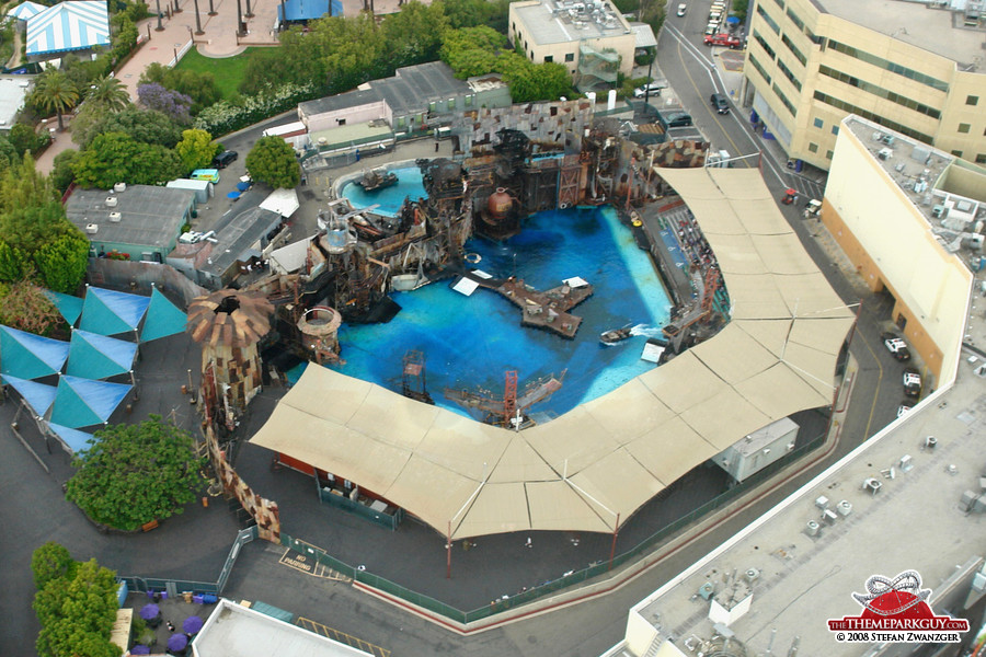 Waterworld stunt show
