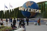 Universal Studios globe in Osaka