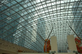 ...looming above the glass ceiling