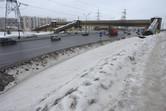 Footbridge crossing the highway adjacent to the Universal site