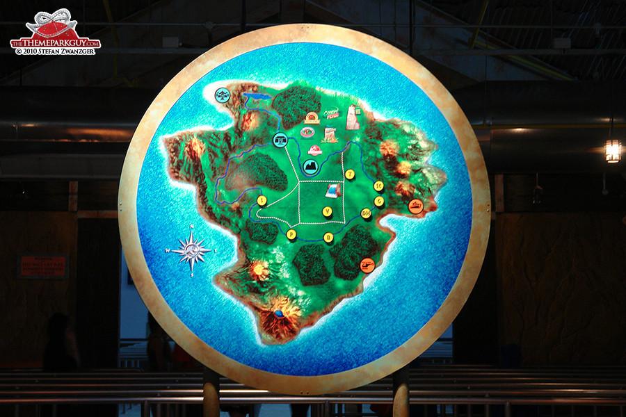 Jurassic Park Rapids Adventure map