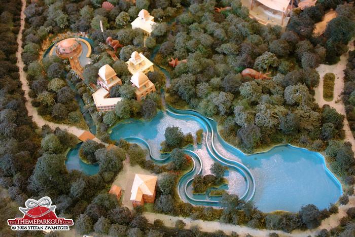Jurassic Park river rapids ride model