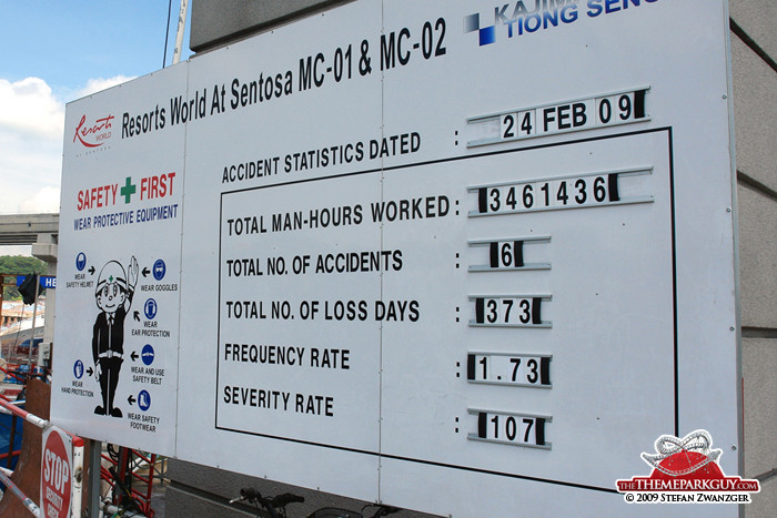 Resorts World Sentosa construction board