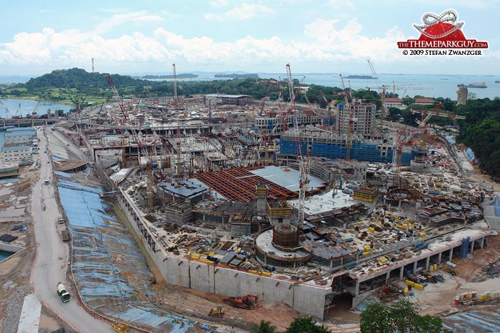 Resorts World Sentosa under construction
