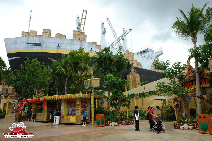 Ship housing the Madagascar ride