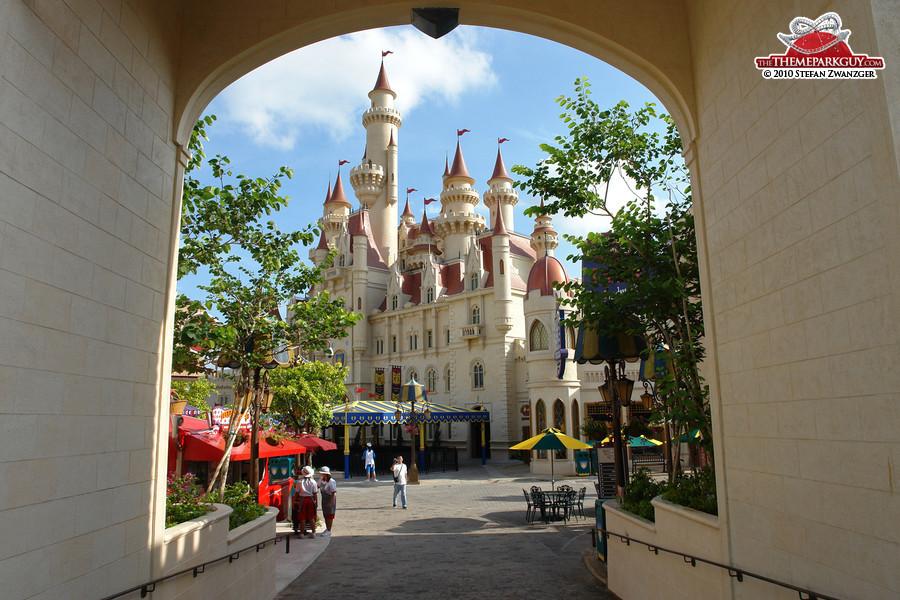 Shrek's castle hosting the 4-D movie