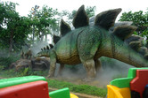 Stegosaurus on the Jurassic Park ride