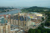 Universal Studios Singapore from above, November 2009