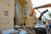 Mummy statues under construction