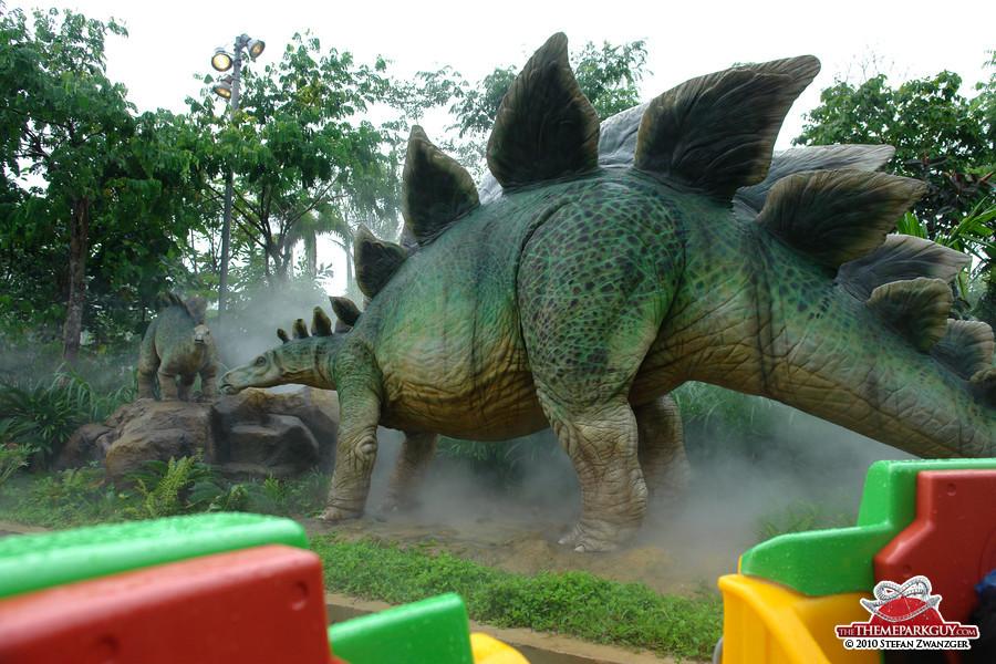 Stegosaurus on the Jurassic Park ride