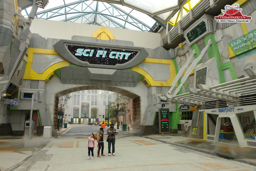 Sci Fi City, home of the future Transformers ride