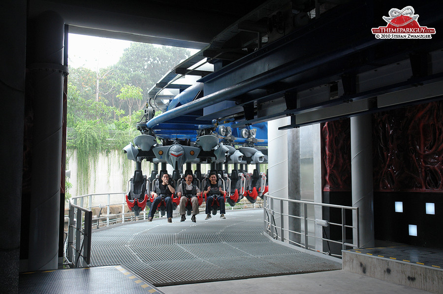Inverted Battlestar Galactica coaster