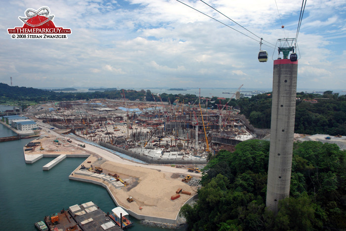 Resorts World Sentosa site, October 2008