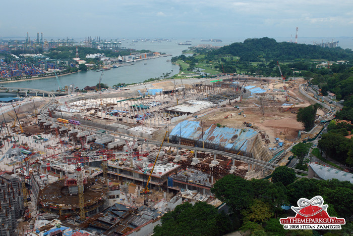 Universal Studios Singapore construction site