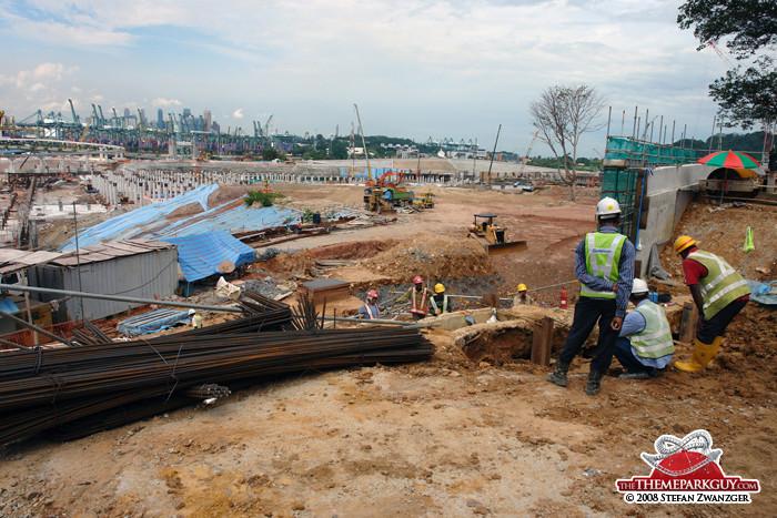 Work on Universal Studios Singapore