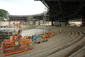 Waterworld stunt show stadium