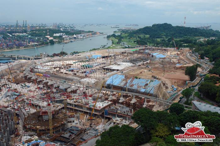 Universal Studios Singapore construction site