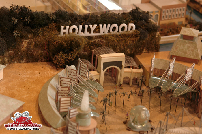 Universal Studios Singapore entrance model